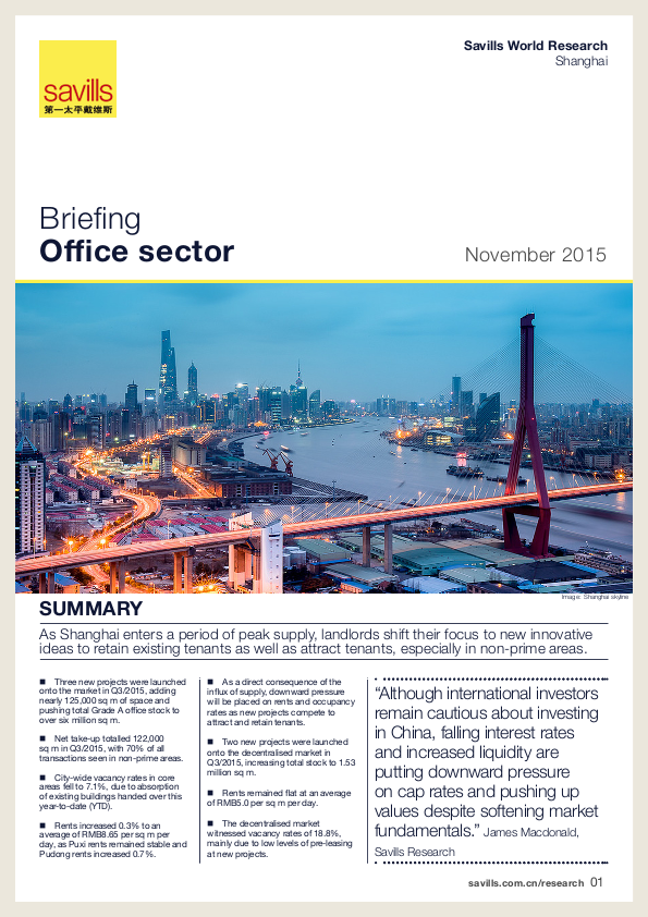 Shanghai Office Briefing - Autumn 2015