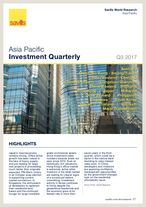 Asia Pacific Investment Quarterly - Q3 2017