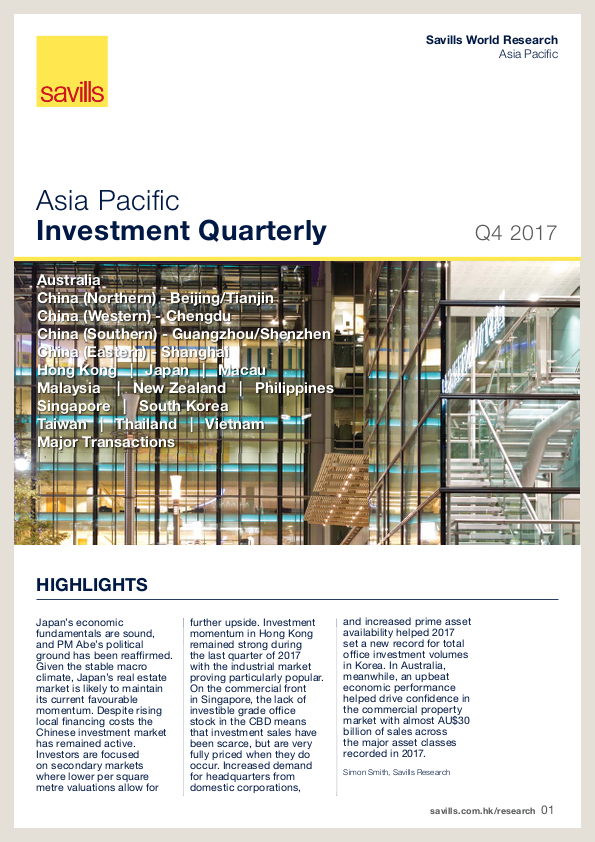 Asia Pacific Investment Quarterly - Q4 2017