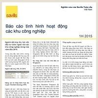 Báo cáo tình hình hoạt động các khu công nghiệp H1/2015